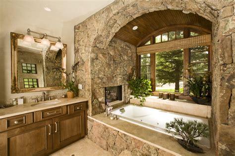 Rustic Tile Bathroom - wildflower baths