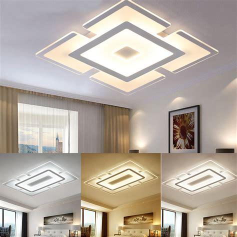ceiling light for room modern square acrylic led ceiling light living room bedroom home l ebay