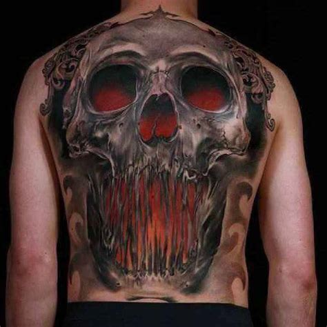 awesome skull tattoos awesome skull on back by niki norberg