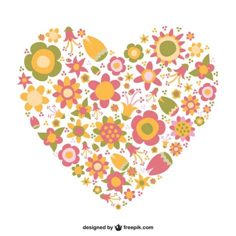 fiore a forma di cuore cuore a forma di fiore scaricare vettori gratis