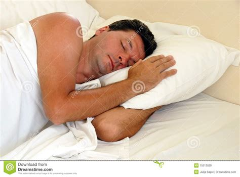 man sleeping in bed man sleeping in bed royalty free stock images image