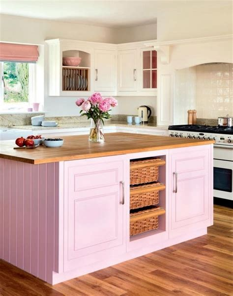 pink kitchens 20 gorgeous kitchens with islands messagenote