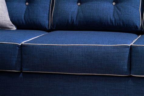 blue couch set 2 pcs blue sofa set