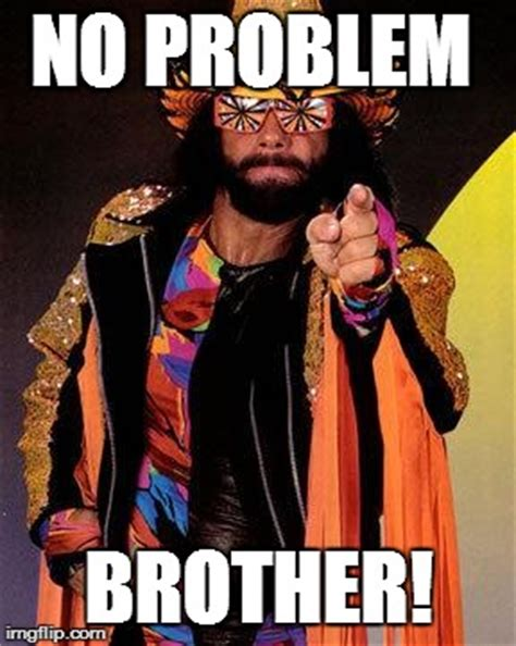 No Problem Meme - macho man imgflip