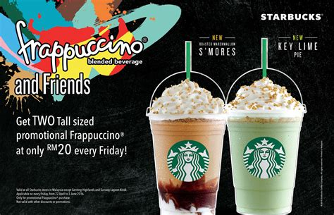 Buy Starbucks Gift Card Discount - two tall sized promotional frappuccino at rm20 starbucks more promo