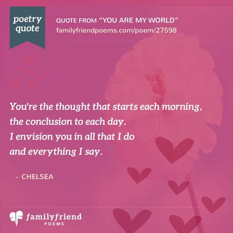You Are My 5 you are my world friend poem