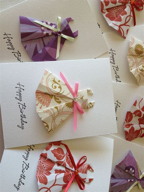 How To Make Origami Greeting Cards - origami dress cards origami greeting cards chie no wa
