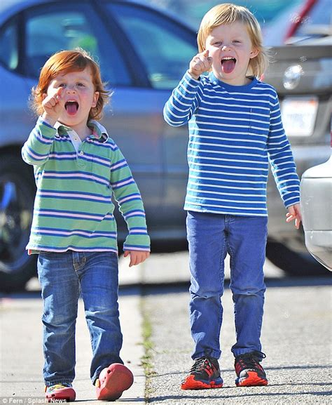 Amy Poehler Sons | amy poehler s sons archie and abel act up by pulling silly