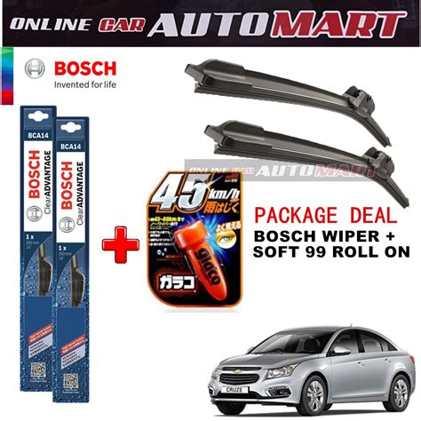 Wiper Helios Chevrolet Optra High Performance 20 20 chevrolet cruze package deal bosch clear advantage wiper blade with soft99 glaco roll on