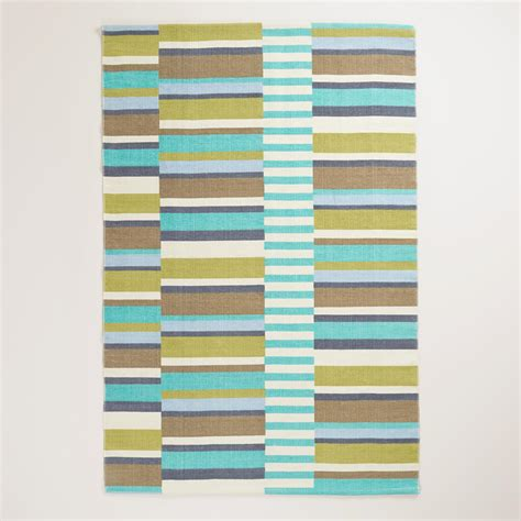 Outdoor Rugs World Market 4 X6 Blue Placed Stripe Indoor Outdoor Rug World Market