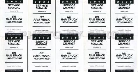 2005 dodge truck wiring diagram 2005 dodge ram truck repair shop manual 4 vol set original 1500 2500 3500