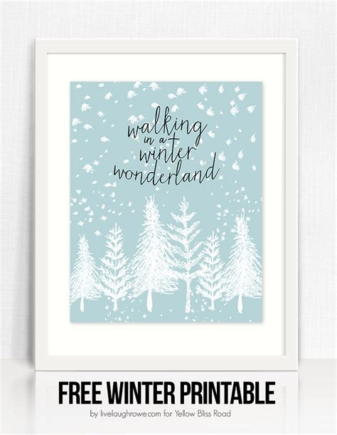 free printable winter note cards winter wonderland free printable yellow bliss road