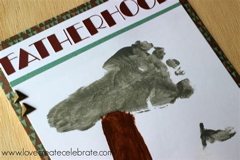 fathers day footprint s day footprint card create celebrate