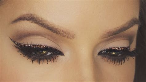 glitter eyeliner tutorial youtube chocolate glitter eyeliner tutorial festive makeup