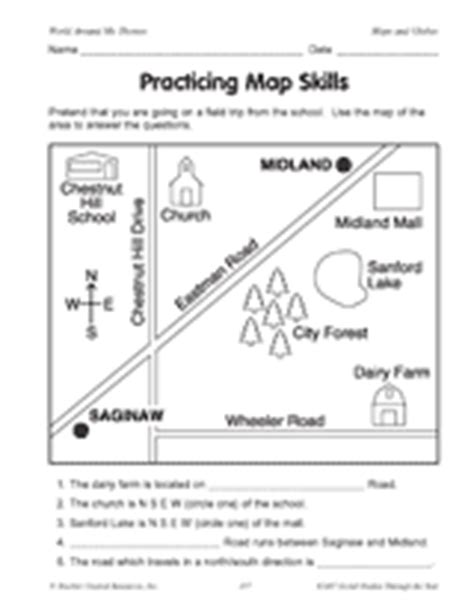 printable map worksheets for 4th grade practicing map skills printable geography 2nd 4th grade