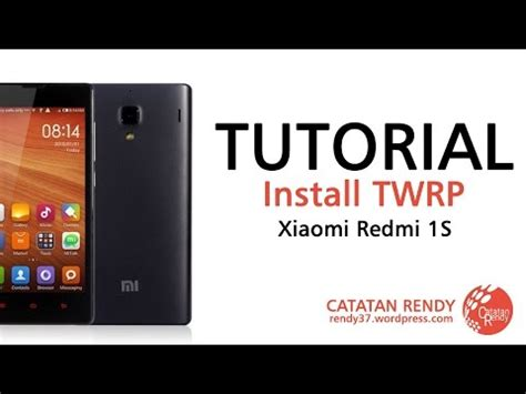 tutorial flash redmi 1s how to install flash twrp 2 8 1 stable custom recover