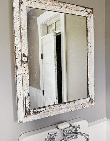 bathroom mirror vintage vintage white bathroom mirror old stuff i like pinterest