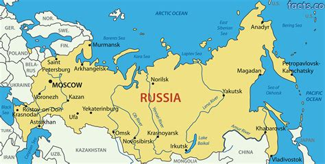 map of russia with cities rivers and mountains russia map with states
