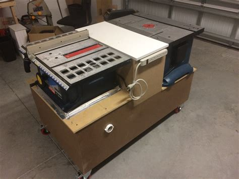 table saw work bench workbench with integrated table saw and router table