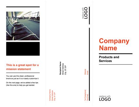 Brochures Office Com Powerpoint Trifold Template