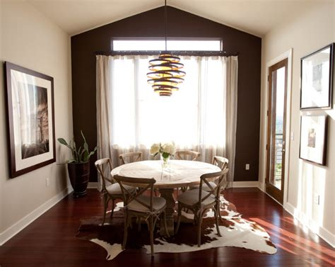 cowhide rug dining room 22 gorgeous cowhide rugs in the dining room home design lover