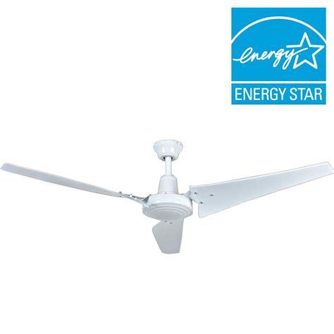 60 white ceiling fan hton bay industrial 60 in indoor white ceiling fan