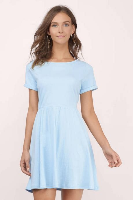 light blue dress with sleeves light blue skater dress with sleeves