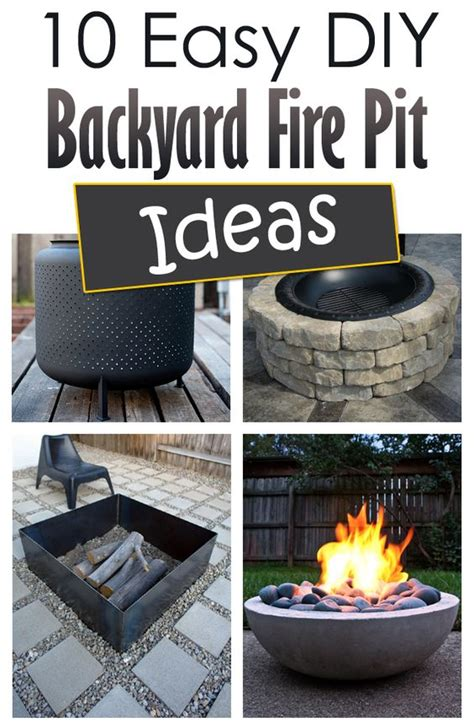Diy Inspiring Pit Designs 10 Easy Diy Backyard Pit Ideas Outdoors Gardens Drums And Backyards
