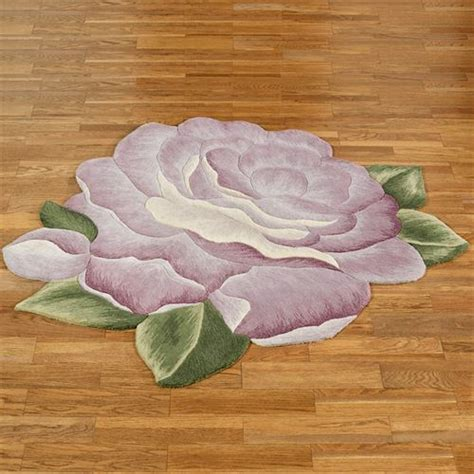 flower rugs vintage bloom lavender flower shaped rugs