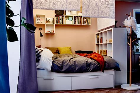 bedroom inspiration for small rooms 15 ikea storage hacks space savers for small bedrooms