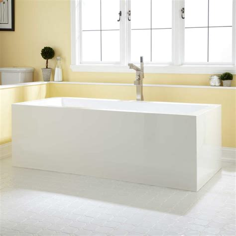 bathrooms with freestanding tubs 71 quot dolan acrylic freestanding tub