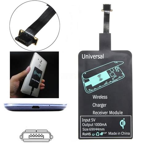 Android Qi by Fr Android Micro Usb Universal Qi Wireless Charger Pad Receiver Charging Adapter Ebay