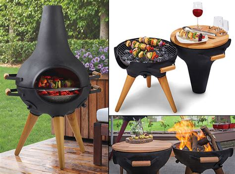 Novelty Chiminea by Transforming Chimney Bbqs Grill Pit