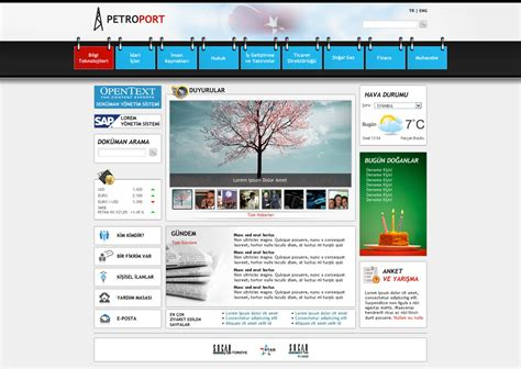 Sharepoint Intranet Portal By Blackiron On Deviantart Intranet Design Templates