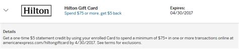 Hilton Points Gift Cards - new amex offer for hilton properties points with a crew
