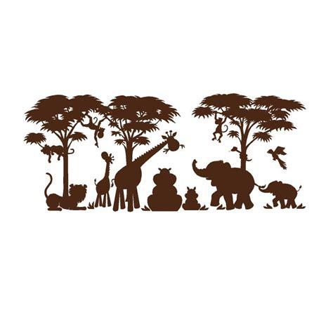 Monkey Wall Murals large silhouette safari wall mural