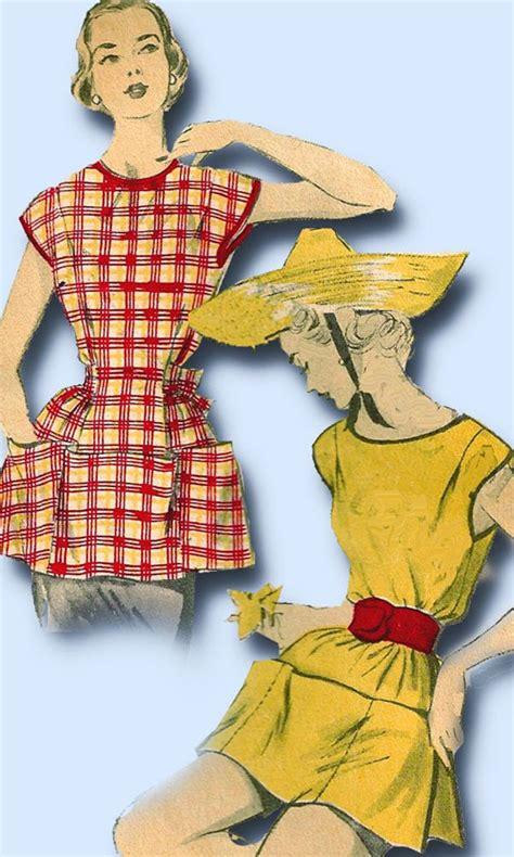 cobbler apron pattern vintage 1950s vintage misses easy cobbler apron 1952 advance