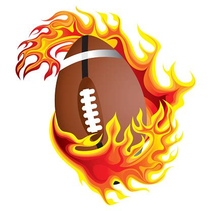 Free Clipart Flaming Soccer by Flaming Football Clipart Clip Library