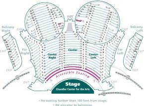 seating for mainstage seating maps photos chandler center for the arts