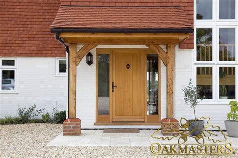 Oak Porch Posts open porch with oak posts and brackets 5421 oakmasters