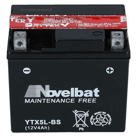 Motorrad Batterie Ctx5l Bs by Agm Motorradbatterie Ytx5l Bs Novelbat 50412 Ctx5l Bs