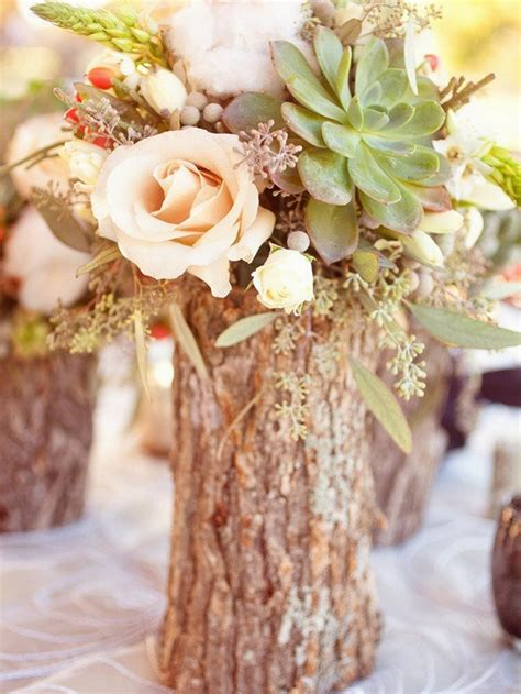 mid high rustic centerpieces
