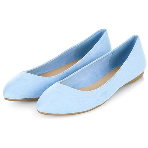 blue shoes flats light blue suedette pointed pumps 9 10 liked on