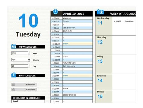 Daily Work Schedule Templates 15 28 Daily Work Schedule Template Excel Best Photos Of