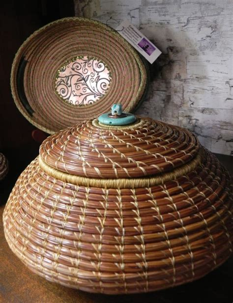 pine needle crafts for pine needle baskets in the sievers shop www sieversschool