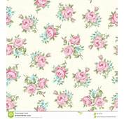 Floral Seamless Vintage Pattern Shabby Chic Rose Background For You