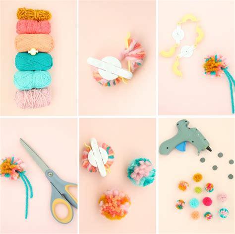Fluffy Mini Pom Pom 1 diy fluffy yarn pom pom magnets 187 lovely indeed
