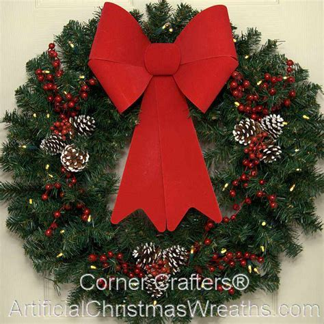 30 inch l e d deluxe christmas wreath cornercrafters