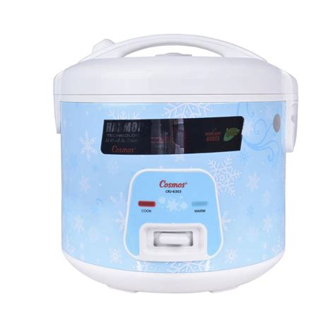 jual cosmos crj6303 rice cooker biru harmond technology