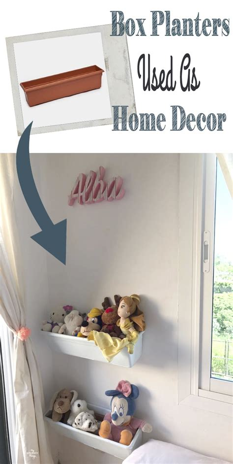 used home decor plastic flower box planters used as home decor diy